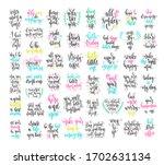 set of 50 hand lettering...   Shutterstock .eps vector #1702631134