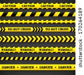 set of caution tapes. vector... | Shutterstock .eps vector #170264189