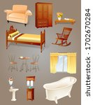 furniture collection  vector... | Shutterstock .eps vector #1702670284