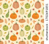 Green And Orange Pumpkins With...