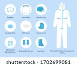 Set Of Ppe Personal Protective...