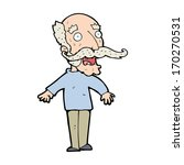 cartoon old man gasping in... | Shutterstock .eps vector #170270531