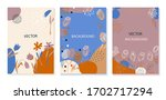 set of abstract cards with... | Shutterstock .eps vector #1702717294