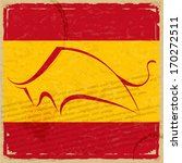 grunge spanish flag with the... | Shutterstock .eps vector #170272511