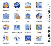 business development icons set...