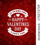 happy valentine's day message... | Shutterstock .eps vector #170272739
