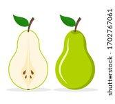 pear fresh fruit vector icon.... | Shutterstock .eps vector #1702767061