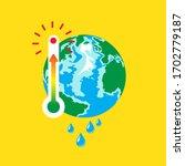 planet earth  danger rising... | Shutterstock .eps vector #1702779187