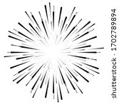radial halftone dots in circle...   Shutterstock .eps vector #1702789894