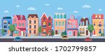 old european town cartoon... | Shutterstock .eps vector #1702799857