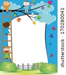 cute kids frame with happy boys ...   Shutterstock . vector #170280041