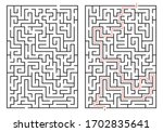 labyrinth game. maze or puzzle... | Shutterstock .eps vector #1702835641