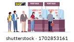 ticket sales counter semi flat...   Shutterstock .eps vector #1702853161