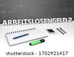 arbeitslosengeld 2  german word ...   Shutterstock . vector #1702921417