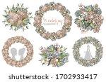 color vector wedding flowers... | Shutterstock .eps vector #1702933417