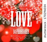 happy valentine's day hand...   Shutterstock .eps vector #170296034
