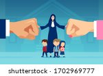 Vector Of Little Children And A ...