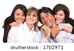 beautiful latin american family ... | Shutterstock . vector #1702971