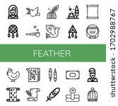Set Of Feather Icons. Such As...