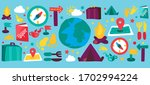 tourism and travel cartoon... | Shutterstock .eps vector #1702994224