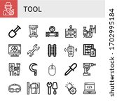 tool icon set. collection of... | Shutterstock .eps vector #1702995184