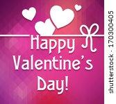 happy valentine's day ... | Shutterstock .eps vector #170300405
