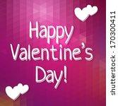 happy valentine's day ... | Shutterstock .eps vector #170300411