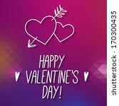 happy valentine's day ... | Shutterstock .eps vector #170300435
