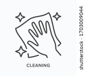 hand cleaning icon. vector... | Shutterstock .eps vector #1703009044
