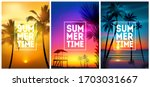 summer tropical beach... | Shutterstock .eps vector #1703031667