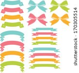 spring banners and ribbons | Shutterstock .eps vector #170305514