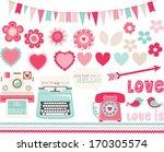 retro valentine | Shutterstock .eps vector #170305574