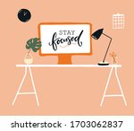 work from home concept... | Shutterstock .eps vector #1703062837