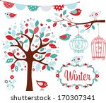 winter garden | Shutterstock .eps vector #170307341