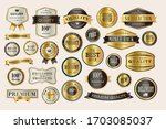 set of luxury labels and... | Shutterstock .eps vector #1703085037