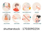 protective prevention measures... | Shutterstock .eps vector #1703090254