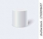 white cylinder isolated on... | Shutterstock .eps vector #1703098657