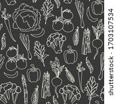 vector seamless pattern with... | Shutterstock .eps vector #1703107534