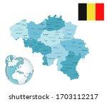 belgium administrative blue... | Shutterstock .eps vector #1703112217