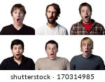 six different shocked faces | Shutterstock . vector #170314985
