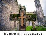Cross In A Cemetery In Ireland