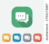 flat speech bubble icons with... | Shutterstock .eps vector #1703173087