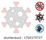 mesh virus polygonal symbol... | Shutterstock .eps vector #1703175727