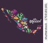 mexico festival culture vector...   Shutterstock .eps vector #1703181181