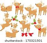 festive reindeer  christmas  | Shutterstock .eps vector #170321501