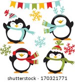 winter penguins | Shutterstock .eps vector #170321771