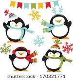 winter penguins   Shutterstock .eps vector #170321771