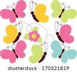 spring butterflies   Shutterstock .eps vector #170321819