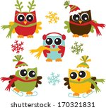christmas owls | Shutterstock .eps vector #170321831