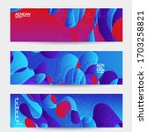 abstract vector wavy pattern... | Shutterstock .eps vector #1703258821
